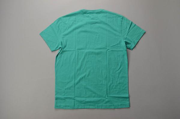 """【AUTUMN SALE】J.CREW / ジェイクルー / 60/40 ブロークンイングラフィックTシャツ""""SURF LA JOLLA"""" /  ヘザーパシフィックターコイズ"""
