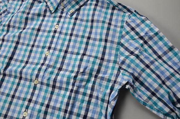 J.CREW / ジェイクルー / ウォッシュドボタンダウンシャツ / ブルー×グリーン×ブラック ミディアムギンガム