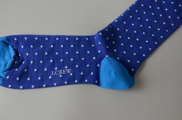 J.CREW / ジェイクルー / ドットパターンソックス / ブルー×ホワイト