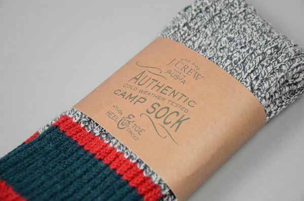 J.CREW / U.S.A Camp Socks / Smoke Pacific ジェイクルー  / U.S.A キャンプソックス / スモークパシフィック