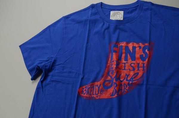 """【AUTUMN SALE】J.CREW / ジェイクルー / NEW グラフィックTシャツ""""FIN'S SURF"""" / ブルー×レッド"""