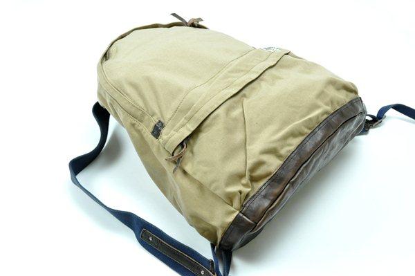 Rugby Ralph Lauren / Nylon & Leather Backpack / Beige ラグビー ラルフローレン / ナイロンアンドレザーバックパック / ベージュ