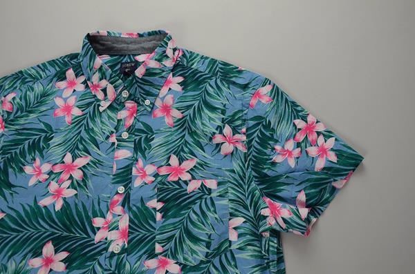 """】J.CREW / ジェイクルー / NEWグラフィック SS B.Dシャツ""""SLIM FIT"""" / ブルーハイビスカス"""