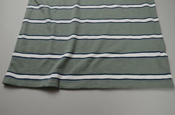 【AUTUMN SALE】J.CREW / ジェイクルー / スラブコットン スプロールストライプTシャツ / グリーンネイビー