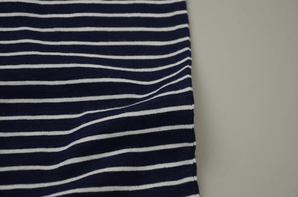 【AUTUMN SALE】J.CREW / ジェイクルー / タイダイ ストライプTシャツ / ネイビータイダイストライプ