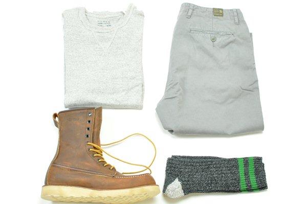 J.CREW / U.S.A Camp Socks / Vintage Grey×Green ジェイクルー  / U.S.A キャンプソックス / ビンテージグレー×グリーン