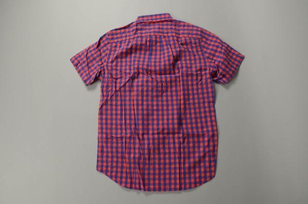 【2021 SUMMER SALE】J.CREW / ジェイクルー / ボタンダウンショートスリーブシャツ / ブルー×レッド