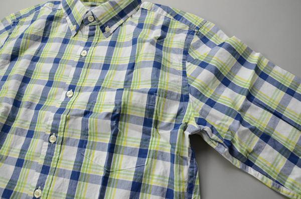 【NEW YEAR SALE】J J.CREW / ジェイクルー / ウォッシュドボタンダウンシャツ / ライム×ネイビー×ホワイト