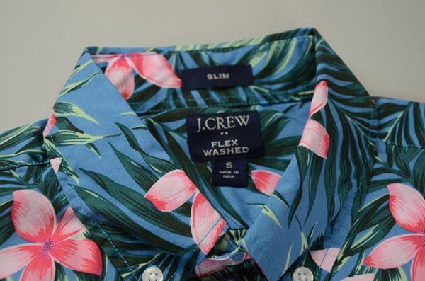 """【CLEARANCE SALE】J.CREW / ジェイクルー / FLEXグラフィックSSシャツ""""SLIMFIT"""" / ジャングルファーン"""