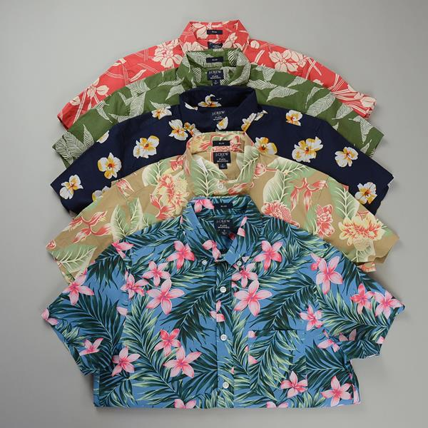 "J.CREW / ジェイクルー / FLEXグラフィックSSシャツ""SLIMFIT"" / オーキッドトスネイビー"