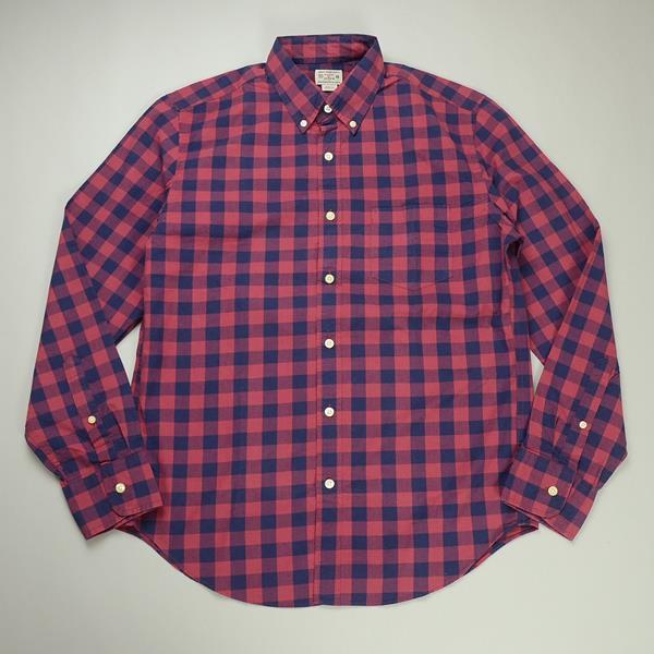 J.CREW / ジェイクルー / ウォッシュドボタンダウンシャツ / レッド×ネイビー ラージギンガム