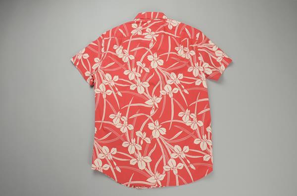 """【NEW YEAR SALE】J.CREW / ジェイクルー / FLEXグラフィックSSシャツ""""SLIMFIT"""" / アイリスフローラルレッド"""
