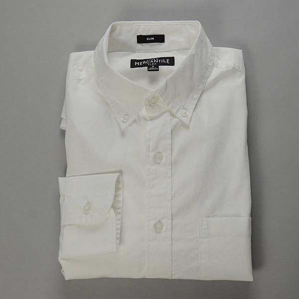 """J.CREW / ジェイクルー / FLEX ホワイトボタンダウンシャツ""""SLIM FIT"""" / ホワイト"""