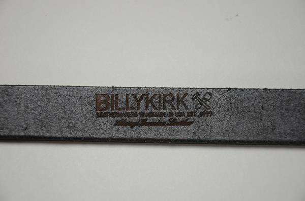 【2021SUMMER SALE】BILLY KIRK / ビリーカーク / センターバーレザーベルト 1インチ / ブラック