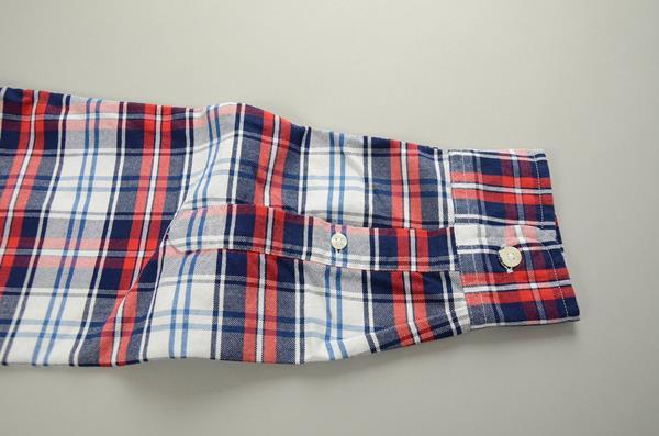 """【10周年記念SALE 12/13まで】J.CREW / ジェイクルー / NEW ウォッシュド オックスフォードチェックB.Dシャツ""""SLIM FIT"""" / レッド×ブルー×ネイビー"""