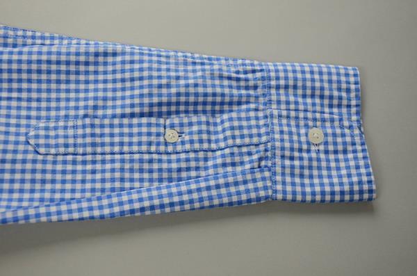 """】J.CREW / ジェイクルー / ウォッシュドボタンダウンシャツ""""SLIM FIT"""" / セルリアンブルーギンガム"""