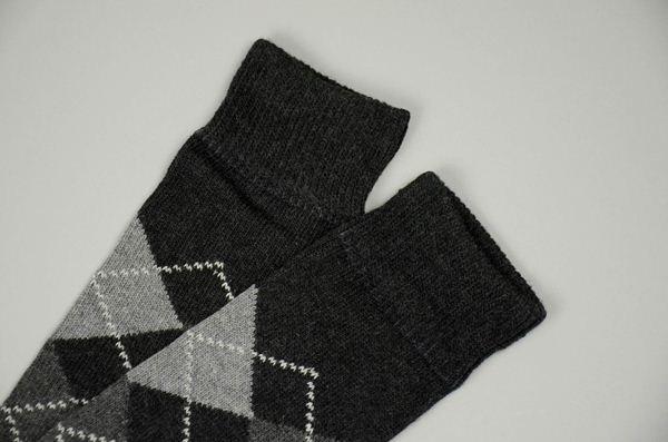 J.CREW / Argyle Socks / Hthr Chacoal ジェイクルー / アーガイルソックス / ヘザーチャコール