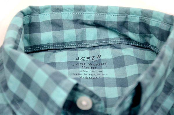J.CREW / ジェイクルー / シークレットウォッシュライトウェイトB.Dシャツ / ブリーカーグリーン