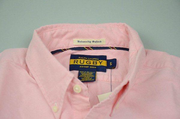 Rugby Ralph Lauren / ラグビー ラルフローレン / オックスフォード カスタムB.Dシャツ / ピンク×レッドスカル