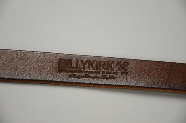 【2021SUMMER SALE】 BILLY KIRK / ビリーカーク / センターバーレザーベルト 1インチ / ブラウン
