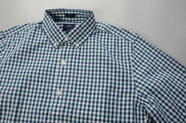 """【スーパープライス】J.CREW / ジェイクルー / NEWウォッシュドボタンダウンシャツ""""SLIM FIT"""" / ブルーグリーンギンガム"""