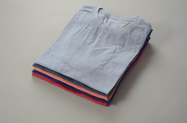 【AUTUMN SALE】J.CREW / ジェイクルー / ブロークンインクルーネックTシャツ / ライトマリタイム