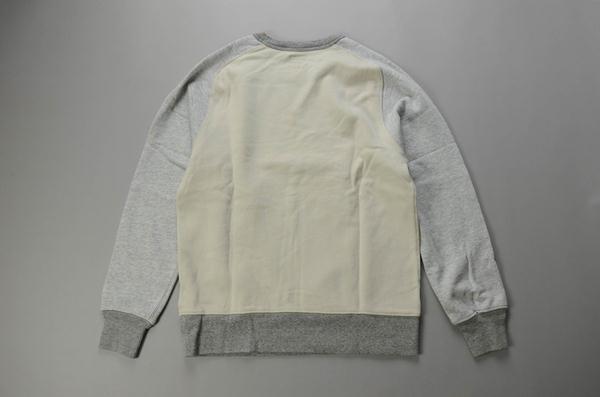 J.CREW / ジェイクルー / コントラストスウェットシャツ / ヘザーグレー×マウンテンホワイト