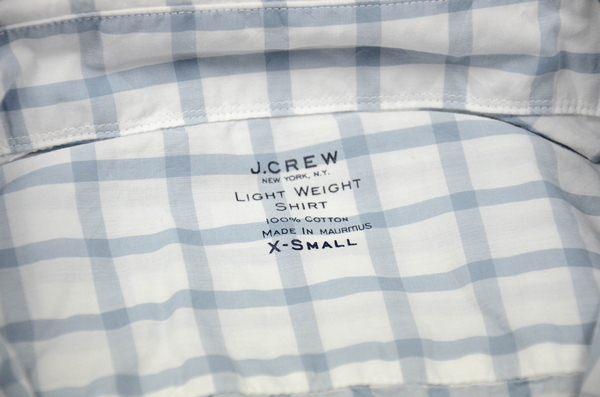 J.CREW / ジェイクルー / シークレットウォッシュライトウェイトB.Dシャツ / イングリッシュグレー
