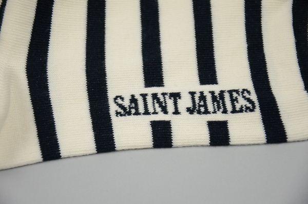 SAINT JAMES / セントジェームス / マリンストライプソックス / エクリュ×マリン