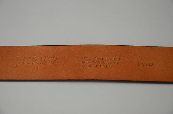 J.CREW / ジェイクルー / U.S.A スエードビンテージレザーベルト / チョコレートブラウン