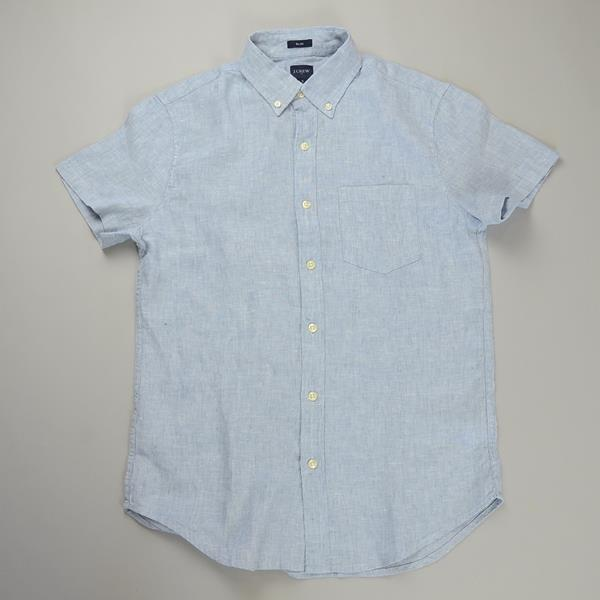 """J.CREW / ジェイクルー / NEW リネンソリッドSSシャツ""""SLIM FIT"""" / レイクビュー"""