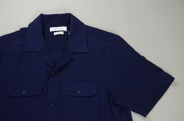 URBAN OUTFITTERS / アーバンアウトフィッターズ / オープンカラーキャンプシャツ / ネイビー