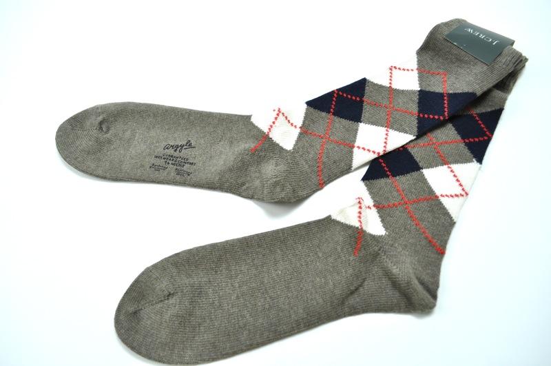 J.CREW / Argyle Socks / Heather Beige ジェイクルー / アーガイルソックス / ヘザーべージュ