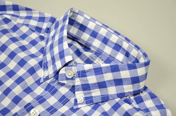【CLEARANCE SALE】J J.CREW / ジェイクルー / シークレットウォッシュライトウェイトB.Dシャツ / ブルー×ホワイト