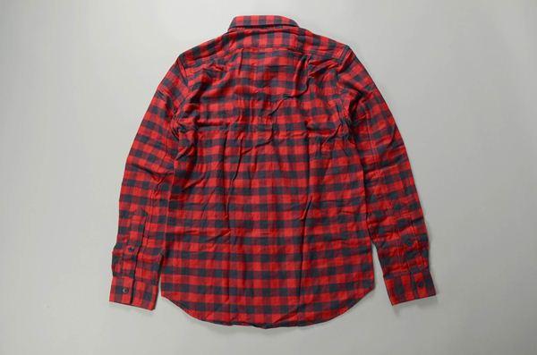 J.CREW / ジェイクルー / ウォッシュドフランネルワークシャツ / レッド グレーバッファロー