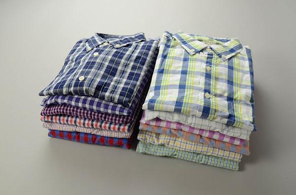 【CLEARANCE SALE】J J.CREW / ジェイクルー / ウォッシュドボタンダウンシャツ / レッド×ホワイト×ブルー タッターソール