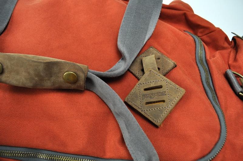 JANSPORT HERITAGE / Duffle Bag / Vintage Orange×Brown Leather ジャンスポーツへリテージ / ダッフルバッグ / ビンテージオレンジ×ブラウンレザー