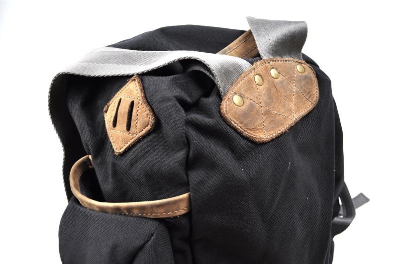 JANSPORT HERITAGE / Back Pack / Black×Brown Leather ジャンスポーツへリテージ / バックパック / ブラック×ブラウンレザー