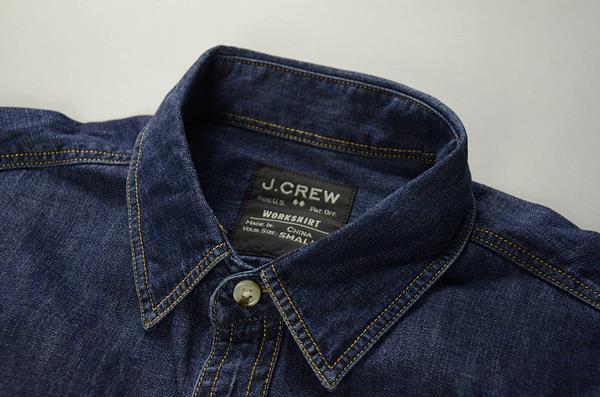 J.CREW / ジェイクルー / ライトウェイトインディゴデニムワークシャツ / インディゴ