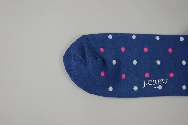 【AUTUMN SALE】J.CREW / ジェイクルー / ドットパターンソックス / ブルー×ホワイト×ベリー