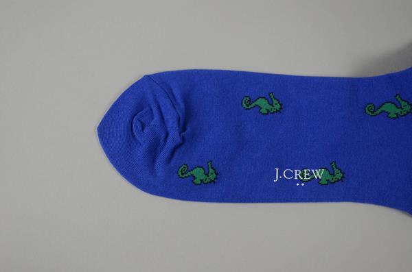J.CREW / ジェイクルー / シーホースプリントソックス / ブルーグリーンシーホース