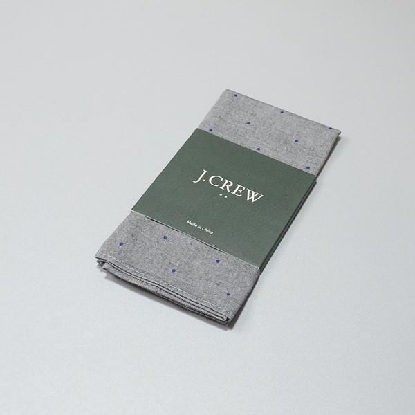 J.CREW / ジェイクルー / コットンポケットチーフ / グレードッツ