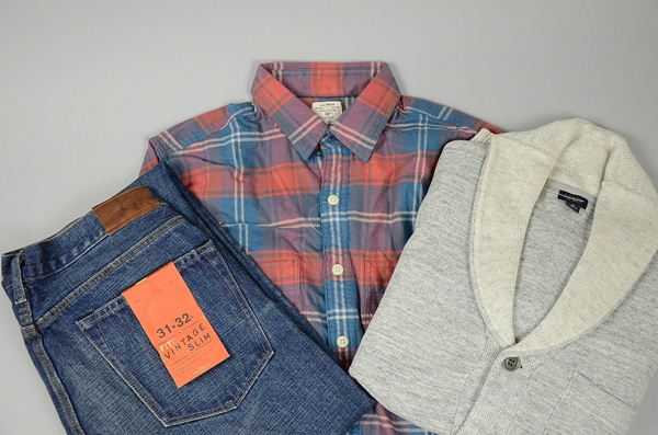J.CREW / ジェイクルー / ウォッシュドフランネルワークシャツ / ダイアレッドブルー