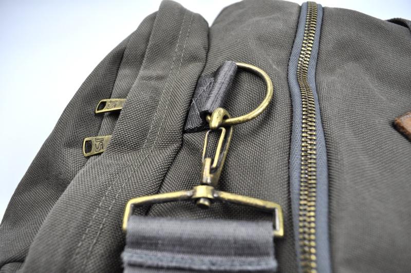 JANSPORT HERITAGE / Duffle Bag / Khaki×Brown Leather ジャンスポーツへリテージ / ダッフルバッグ / カーキ×ブラウンレザー