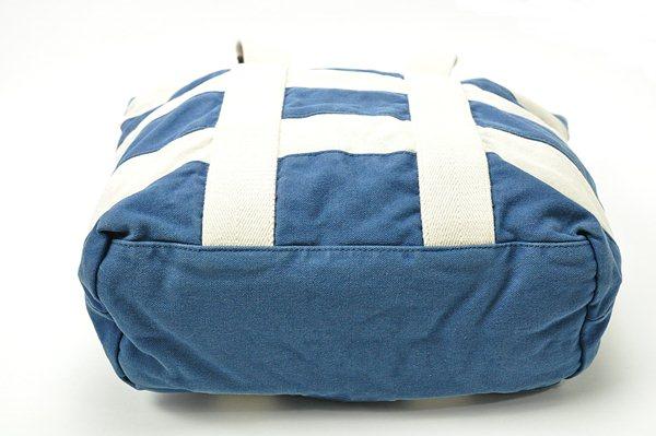 Rugby Ralph Lauren / Striped Canvas Tote / Blue-White ラグビー ラルフローレン / ストライプドキャンバストート / ブルーホワイト