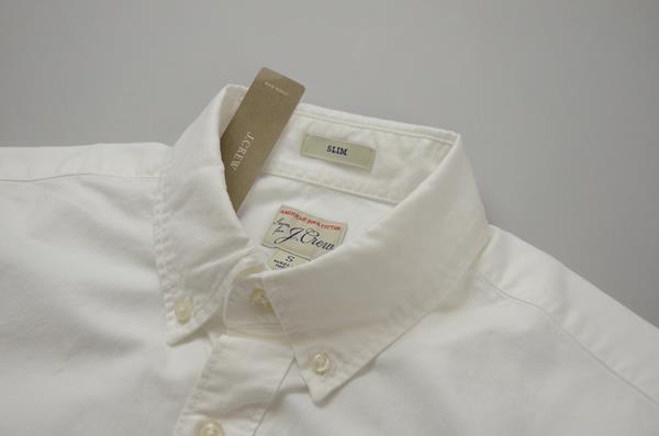 "】J.CREW / ジェイクルー / アメリカンピマコットンオックスフォード SS B.Dシャツ""SLIM FIT"" / ホワイト"
