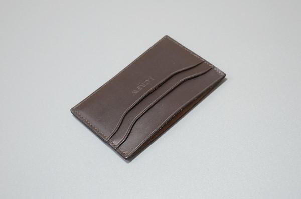 J.CREW / ジェイクルー / クラシックレザーカードケース /ダークブラウン