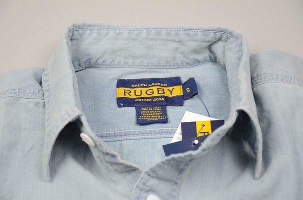Rugby Ralph Lauren / ラグビー ラルフローレン / ビンテージウォッシュドシャンブレー ワークシャツ / ビンテージブルー
