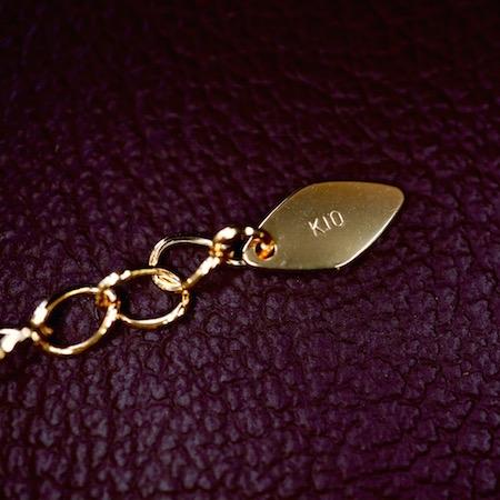 Hi-Bi 茶蝶貝×スモーキークオーツ ダブレット ネックレス