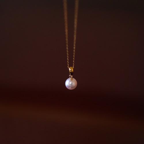 Sot.to K18YG 7mmアコヤ真珠のシンプルバチカンネックレス